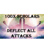 100X 7 SCHOLARS DEFLECT ALL ATTACKS & ENEMIES EXTREME ADVANCED MASTER MA... - $99.77