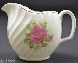 "Adderley Fine Bone China Pink Rose Creamer 2.75"" Tall England Kitchen Te... - $14.99"
