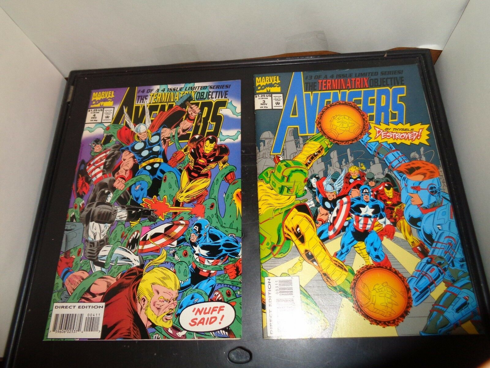 Avengers The Terminatrix Objectives #1-4 Complete Set VF Condition 1993 Marvel