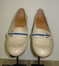 Women's BORN Ivory Leather Monk Strap Flat Super Cute Sz. 38 / 7.5 MINTY! - $35.63