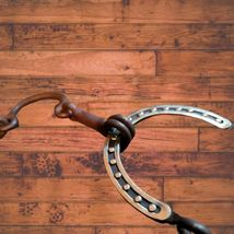 """Connie Combs Horse Correction Mouth Gag Horseshoe Bit 5"""" Mouth image 2"""