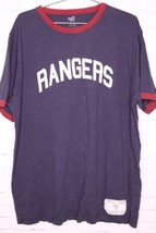 NHL New York Rangers Banner Supply Co Sewn Logo Vintage Style T-Shirt Si... - $18.55