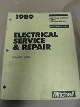MITCHELL 1989 ELECTRICAL SERVICE & REPAIR DOMESTIC CARS CHRYSLER EAGLE FORD - $13.99