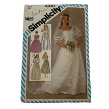 Vintage 1983 SIMPLICITY Sewing Pattern Bridal Dresses 6241 Size 8 Looks ... - $9.99