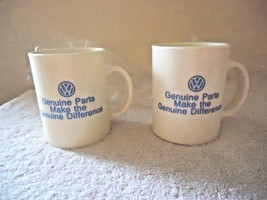 "Vintage Set of 2 "" NOS "" VW Genuine Parts Plastic Advertising Mugs "" BEA... - $34.99"