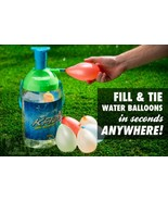 NEW PORTABLE Tie-Not BATTLE PUMP Water Balloon Filler Knot Tying 250 Bal... - $19.53