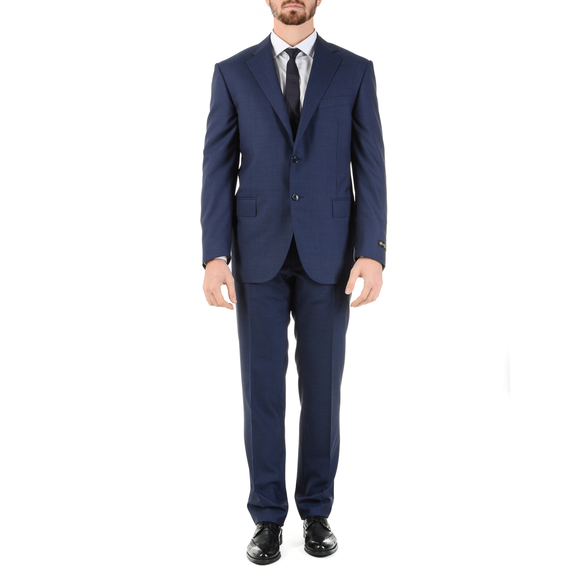 Primary image for Corneliani Mens Suit Long Sleeves Blue Super 110's