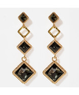 SE50 Women Diamond Shape Drop Earrings Made with Swarovski Crystal  Silv... - $20.56