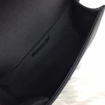 100% AUTHENTIC NEW CHANEL 2018 BLACK CAVIAR LEATHER MEDIUM BOY FLAP BAG RHW image 8