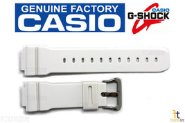 CASIO G-Shock GW-6900A-7 16mm Original White Rubber Watch BAND GW-M5600A-7 - $42.95