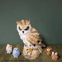 CYL& A Set of Resin Owl Statues, Garden Owl for Patio Lawn Yard Indoor - $25.58