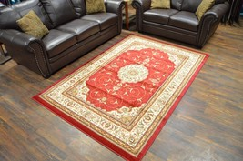 MILANO Traditional Floral 5x8 5x7 Area Rug Persian Oriental 982 Burgundy - $119.00