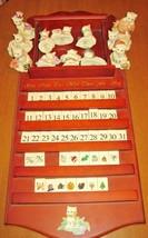Lenox 2003 Perpetual Cat Calendar Playful Kittens Complete Wood Shelf All Pieces - $222.75