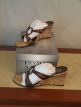 New In Box Franco Sarto Chocolate Kid Wedge Sandals Size 5.5 - $44.50