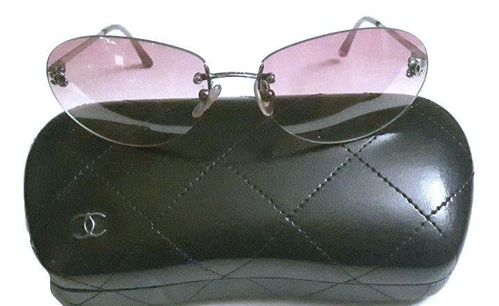 f7fad2d30b3d9 Authentic Chanel Pink Gradient Tint CC 4017-D Square Sunglasses retail  price 650 -  245.00