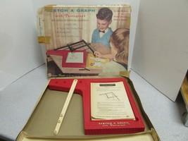 Vtg 597mS Ohio Art Etch a Graph 502 Piezas Solo Falta Brazos en Caja Trazar - $6.86