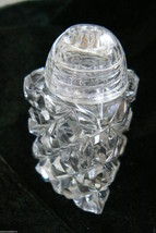VINTAGE CLEAR CRYSTAL SALT OR PEPPER SHAKER SH - $60.13