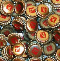 Soda pop bottle caps Lot of 25 plastic lined 7UP unused and new old stock - $8.99