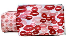 2 Clinique Vintage 1990's Cosmetic Bags Pouches 1 Kisses & 1 Status Link... - $10.35
