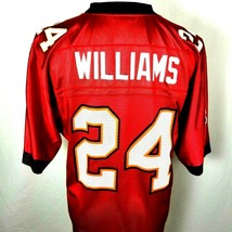 Tampa Bay Buccaneers Cadillac Williams 24 Reebok Jersey Size Medium Red ... - $27.68