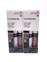 Lot of 2 COVERGIRL Outlast All-Day Lipcolor Lipstick Forever Fawn 598 24... - $19.70