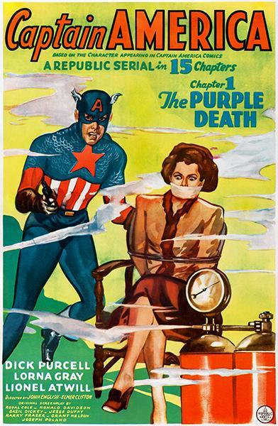 Primary image for Captain America - The Purple Death - 1944 - Movie Poster