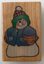"Comotion Rubber Stamp All Bundled Up Snowman 811 Winter 2  x 1.25"" - $3.99"