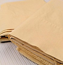 Solid Yellow Cannon Muslin Cotton Pillowcases Pair - $9.89