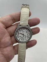 Vintage Guess Rhinestone White Watch - $19.79