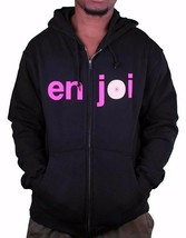 Enjoi Logo Skateboarding Black Pink Boobies Zip Up Hoodie 20417068 NWT