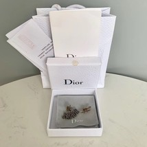 AUTHENTIC Christian Dior J'ADIOR Bee Wasp Gold Asymmetrical EARRINGS RECEIPT image 3