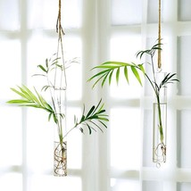 Glass Vase Water Flower Pots Glass Hanging Vase Tube Terrarium Container... - $28.96+