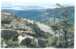 Acadia National Park Maine ME Drive to Summit Postcard Chrome Colourpicture - $3.34