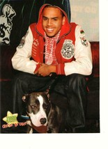 Chris Brown teen magazine pinup clipping puppy time a car Tiger Beat - $1.50