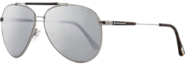 Tom Ford Rick Men Sunglasses Grey Silver w/Silver Mirrored Lens FT0378 1... - $148.49