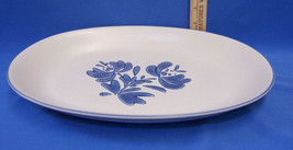 Pfaltzgraff Yorktowne Large Oval Serving Platter Tray Plate Blue Flower - $16.92