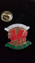 always welsh wales shield Lapel Pin Badge / tie pin. in gift box enamel finished