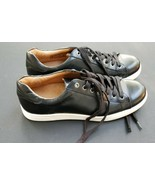 Men's Vionic Baldwin Sneaker Black Leather Size 9.5 - $68.39