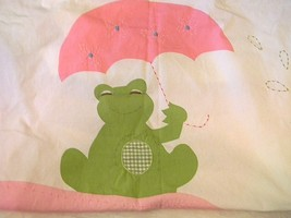 Pottery Barn Kids Shower Curtain Fabric Elephant Hippo Frog Green Gingha... - $24.24