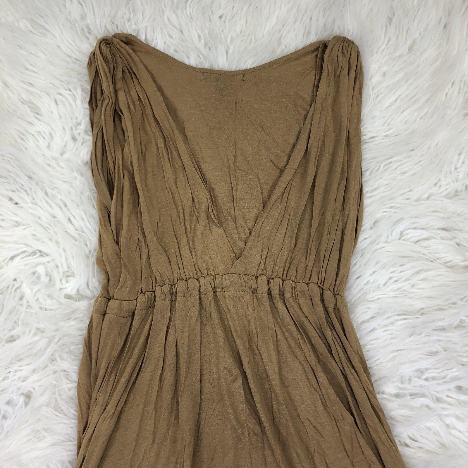 BCBG Maxazria Women's Medium Brown Viscose Wrap Dress