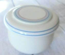 Studio Nova Gallery Sun Circles Sugar Bowl with lid Bowl Dish Jar pottery beige - $14.48
