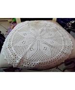 """winter white 17"""" round crochet doilie - $8.00"""