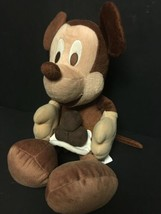 "RARE Brown Mickey Mouse Disney Sega Prize Redemption Plush 16"" Stuffed A... - $18.99"