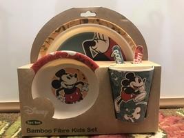 Disney Dancing Mickey 5PC Bambooware Dinnerware Kids Ware FDA Dishwasher... - $18.00