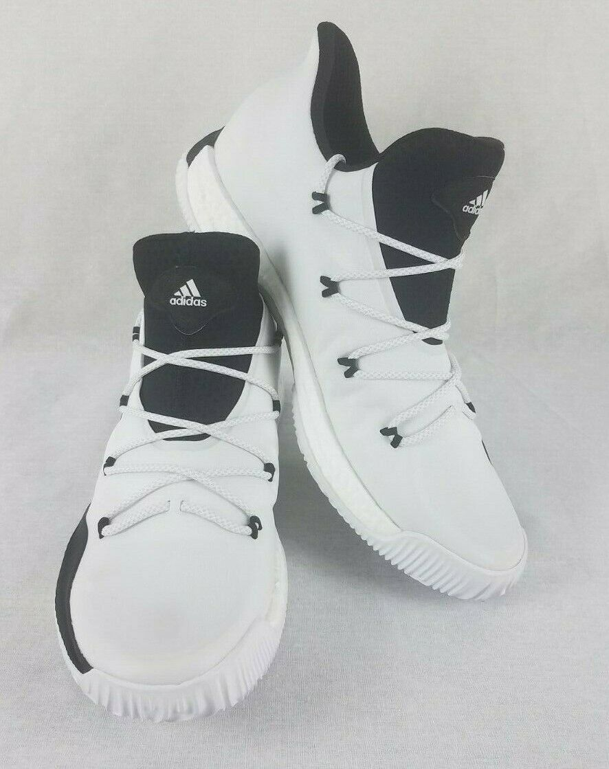 watch f0225 1b951 adidas SM Crazy Explosive Low Basketball Shoes 17 White Black NBA NCAA  BY4272