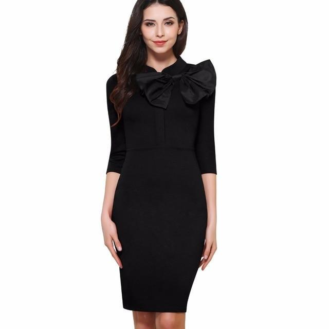 Sheath fitted bodycon elegant pencil dress b244.jpg 640x640 9d52b2f6 262b 4c8a a749 701575aec69f