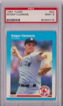 1987 Fleer Roger Clemens #32 PSA 9 P654 - $9.75