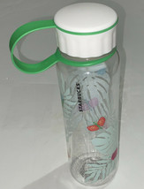 Starbucks Water Bottle Tropical Bugs Ferns Reusable Green Cold Cup 18 oz... - $17.52