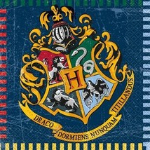 Harry Potter Hogwarts House Lunch Napkins with Crest by Unique 16 Per Pa... - $3.71