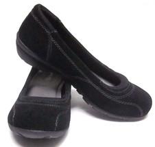 SKECHERS 48990 RELAXED FIT MEMORY FOAM (SIZE 6) BLACK SUEDE SLIP ON SHOE... - $39.54